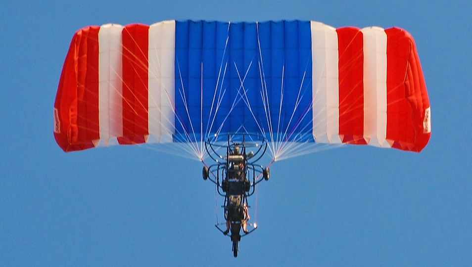 Powered Parachute Flying Overhead