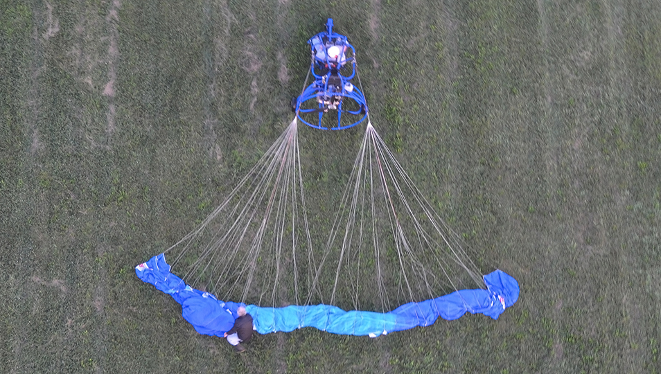 Laying a Powered Parachute Wing Out