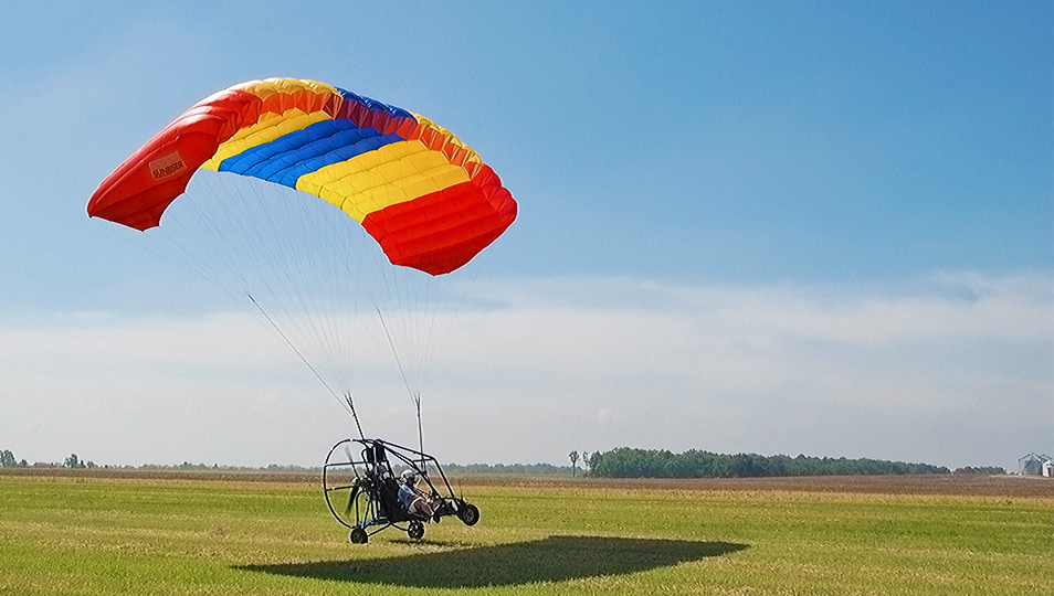 PC2000 Powered Parachute in Flight