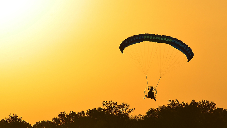 Sunset Flying with a Powered Parachute